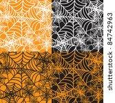 set of four halloween...   Shutterstock .eps vector #84742963