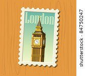 big ben stamp - stock vector