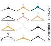set of coat hangers isolated on ... | Shutterstock . vector #84751414