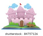 3d illustration of a castle on... | Shutterstock . vector #84757126