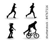 set vector silhouette of roller ... | Shutterstock .eps vector #84767116