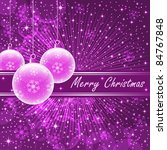 christmas balls in translucent... | Shutterstock .eps vector #84767848