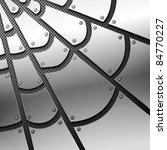 Metallic Spiderweb. Vector...