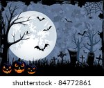 grunge halloween night... | Shutterstock . vector #84772861