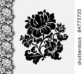 flower and border lace  design... | Shutterstock .eps vector #84775735
