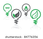 set of environment green icons... | Shutterstock .eps vector #84776356