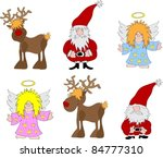 christmas cartoon | Shutterstock .eps vector #84777310