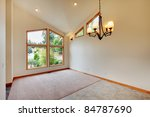 Large white room with large window - stock photo