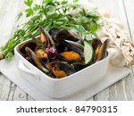 Mussel Soup On Bowl With...