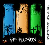halloween concept illustration... | Shutterstock .eps vector #84790408
