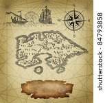 old pirate map | Shutterstock . vector #84793858