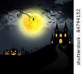 halloween full moon | Shutterstock . vector #84794152