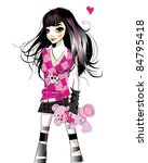 fashion teenage girl | Shutterstock . vector #84795418