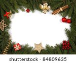 decorative christmas bordering... | Shutterstock . vector #84809635