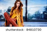 woman in autumn city | Shutterstock . vector #84810730