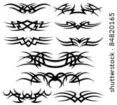 tattoo set | Shutterstock .eps vector #84820165