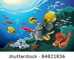 coral reefs beneath the sea ...   Shutterstock . vector #84821836