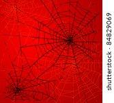 halloween spiders web | Shutterstock .eps vector #84829069