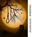 hangmans noose hanging from a... | Shutterstock . vector #84830461
