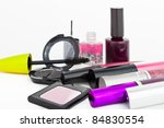 makeup collection on white... | Shutterstock . vector #84830554
