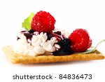 dessert with raspberry and... | Shutterstock . vector #84836473