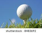 Macro Shot Of A Golf Ball...