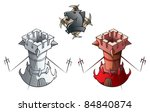 chess pieces series  black and...   Shutterstock . vector #84840874