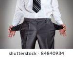 businessman pulling empty... | Shutterstock . vector #84840934