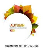 autumn abstract floral... | Shutterstock .eps vector #84842320