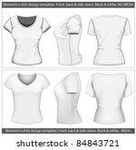 vector. women's t shirt design...   Shutterstock .eps vector #84843721