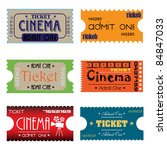 set of six cinema tickets made... | Shutterstock .eps vector #84847033