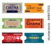 set of six cinema tickets made... | Shutterstock .eps vector #84847033