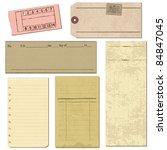set of old paper objects   for... | Shutterstock .eps vector #84847045