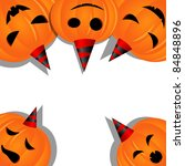 halloween picture with pumpkins | Shutterstock . vector #84848896