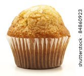 Single Muffin Isolated On A...