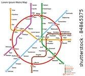fictional metro map. vector... | Shutterstock .eps vector #84865375