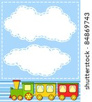 baby train. cheerful vector... | Shutterstock .eps vector #84869743