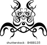 vector scroll pattern painting... | Shutterstock . vector #8488135