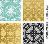 Ornamental backgrounds set - stock vector