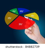 hand business show circle graph - stock photo