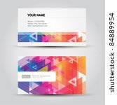 colorful business cards | Shutterstock .eps vector #84889954