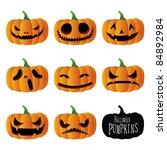 halloween pumpkins   Shutterstock . vector #84892984