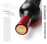 bottle of wine isolated on... | Shutterstock . vector #84896410