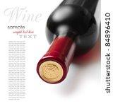 bottle of wine isolated on... | Shutterstock . vector #84896410