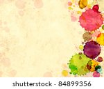 grunge background. texture old... | Shutterstock . vector #84899356