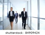 business people walking in the... | Shutterstock . vector #84909424
