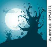 spooky tree | Shutterstock .eps vector #84915973