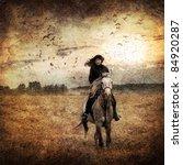 Horseback Riding On Autumn Field