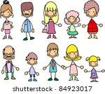 doodle members of large families | Shutterstock .eps vector #84923017