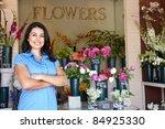 women standing outside florists | Shutterstock . vector #84925330